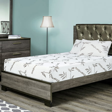 Fortnight Bedding 10 Inch Gel Memory Foam Mattress With Bamboo Cover