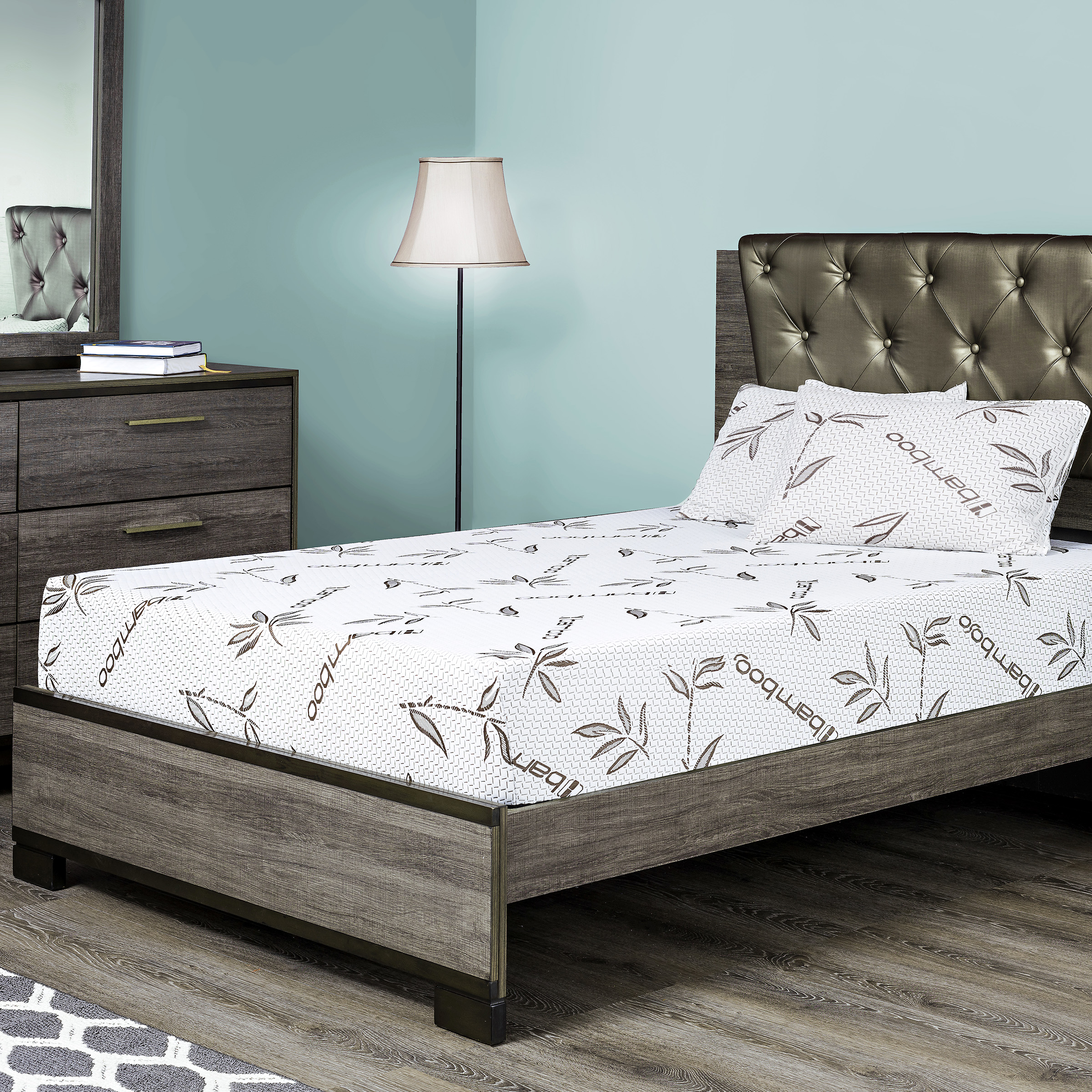 fortnight bedding 10 inch gel memory foam mattress with bamboo cover twin xl