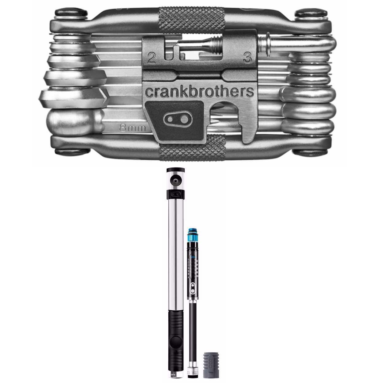 Crank Brothers Klic HP High Pressure Bike Tire Pump and M19 Multi Bicycle Tool