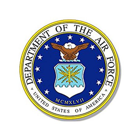 ROUND U.S. Air Force Official Seal Sticker Decal (fly us usaf logo) Size: 4 x 4