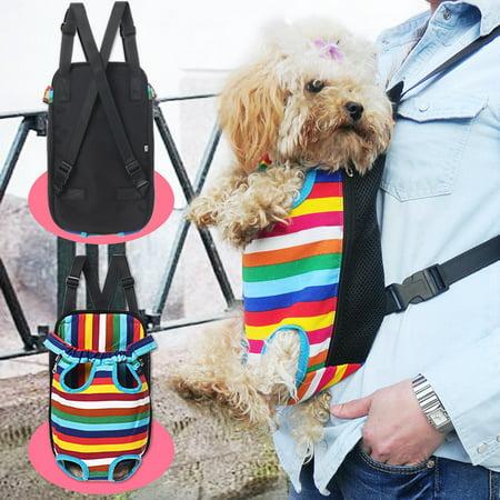 S-XL Size Fashion Pet Puppy Dog Cat Pig Net Canvas Backpack pigcanvasbackpack Front Tote Carrier Travel Shoulder Bag - image 9 de 9