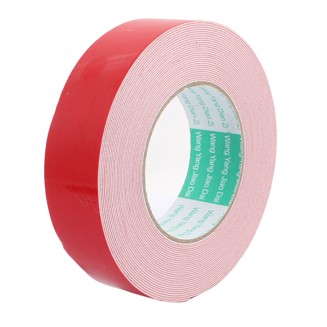 10M 35mm x 1mm Dual-side Adhesive Shockproof Sponge Foam Tape Red White