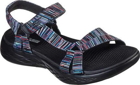 Boys Black//Blue Full Front N1064 Infant to Junior Sandals Spot On