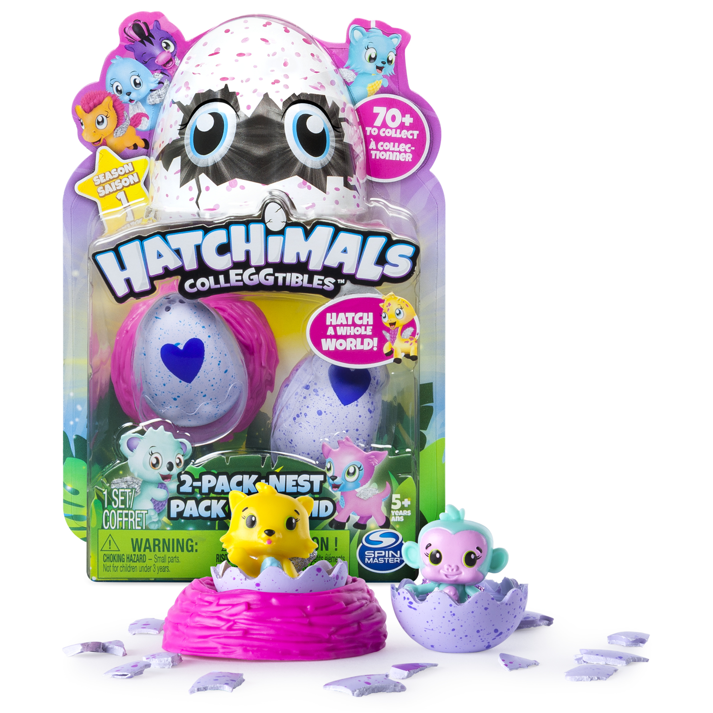 Hatchimals, CollEGGtibles, 2Pack + Nest (Styles & Colors May Vary) by Spin Master