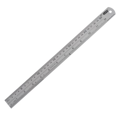 Carpenter Stainless Steel Straight Ruler Measuring Tool 30cm 12 Inch - image 1 of 1