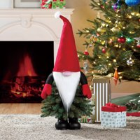 Holiday Time Unlit Gnome Christmas Tree 3 ft, Multicolor