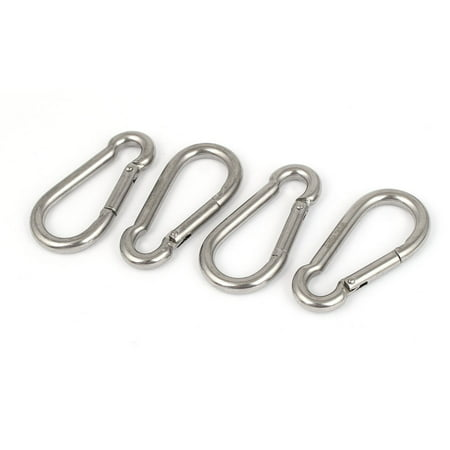 316 Stainless Steel Spring Snap Hook Carabiners 60mm Length 4PCS