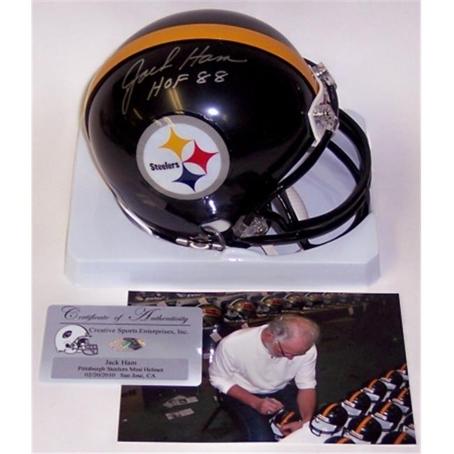 Jack Ham Hand Signed Steelers Mini Helmet - PSA/DNA
