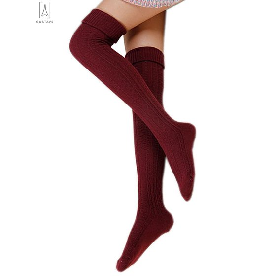 d1fdc6c75b4 Gustave - GustaveDesign Women Thigh High Socks Over the Knee Leg ...