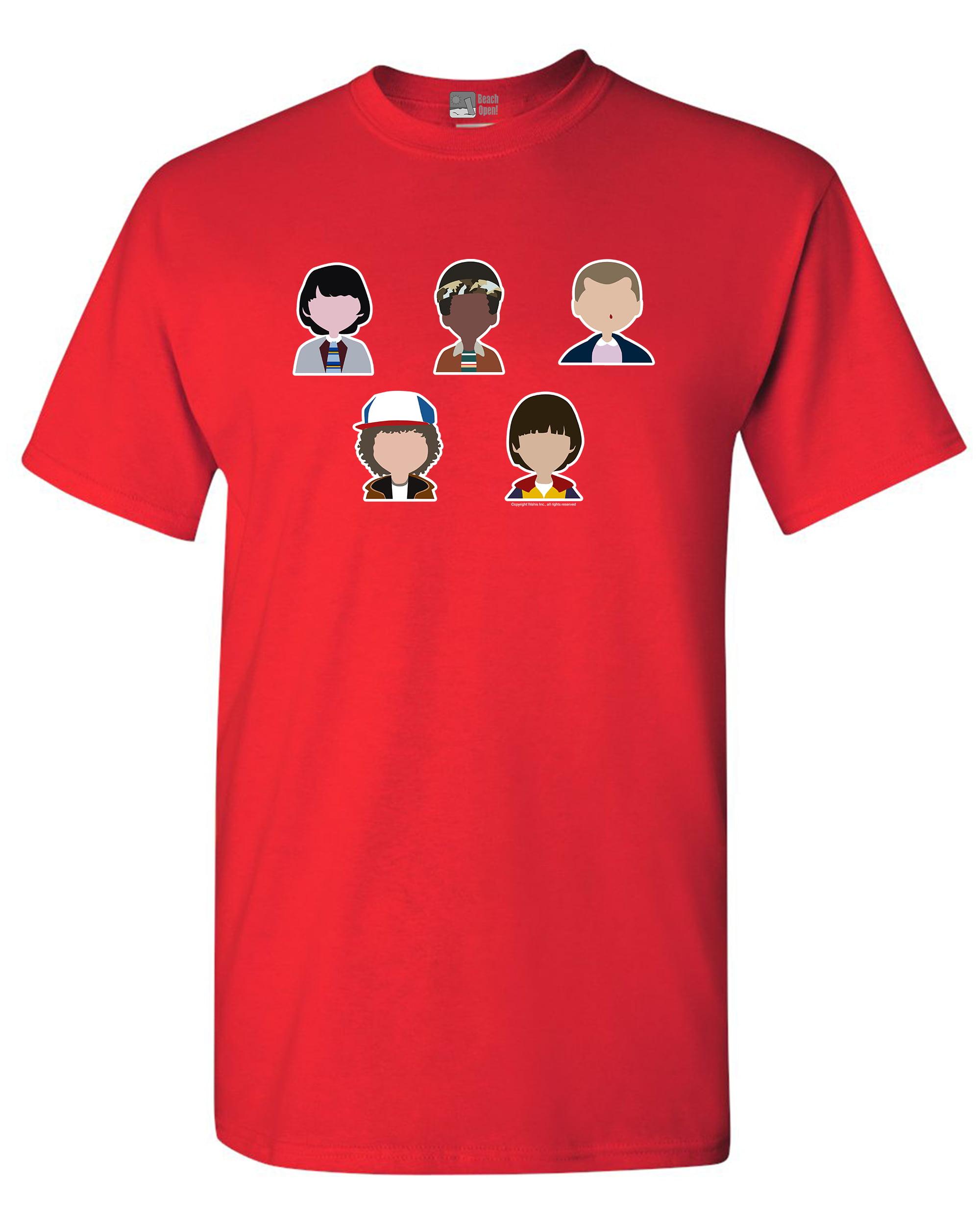 Stranger Character Supernatural Horror Parody Funny Adult DT T-Shirt Tee