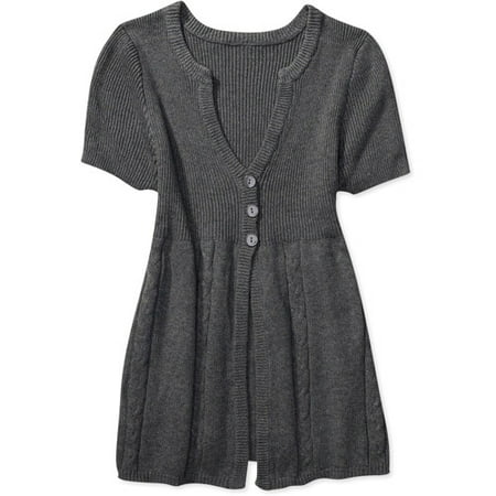 78e82132ea52c Faded Glory - Faded Glory - Women s Plus Cap-Sleeve Tunic Cardigan -  Walmart.com