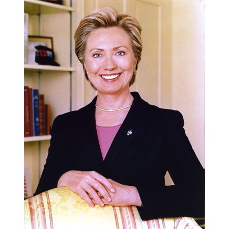 Hillary Clinton smiling in Office Outfit Portrait Photo Print
