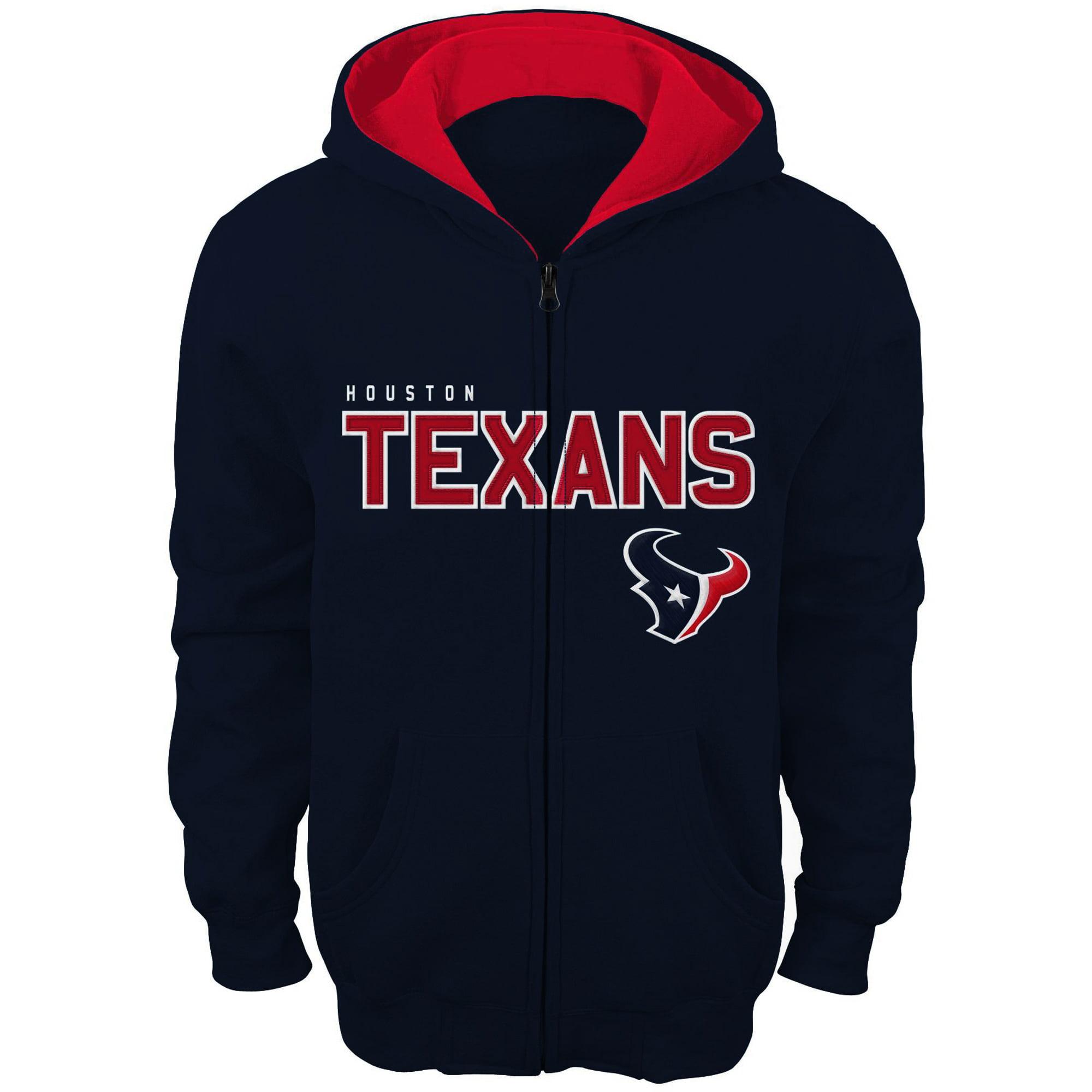 Houston Texans Toddler Fan Gear Stated Full Zip Hoodie - Navy Blue
