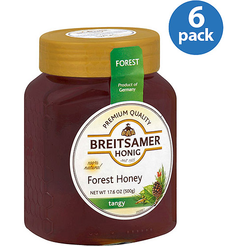 Breitsamer Honig Forest Honey, 17.6 oz, (Pack of 6)