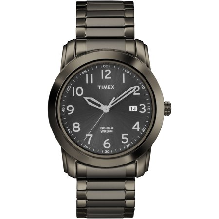 Timex Men's Highland Street Gray Stainless Steel Expansion Band Watch