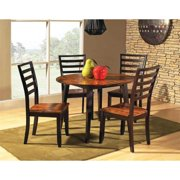 Abaco Round Drop Leaf Table w 4 Ladderback Chairs