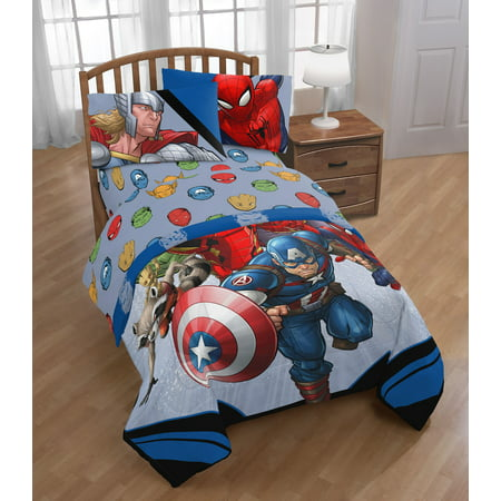 Marvel Avengers Fight Club Super Soft Bedding Sheet Set, Multiple Sizes