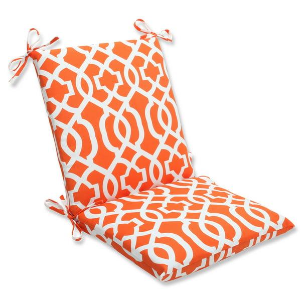 Pillow Perfect Outdoor Indoor New Geo Orange Squared Corners Chair Cushion Walmart Com Walmart Com