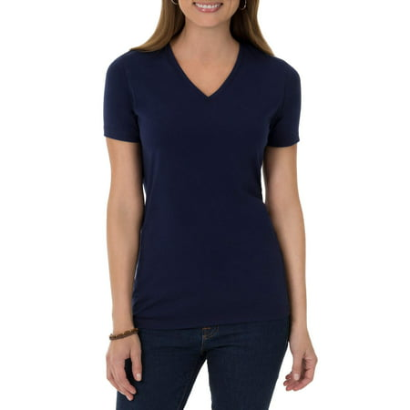Womens Short Sleeve V Neck T Shirt