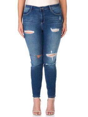 9ec73922cc1 Product Image Juniors  Plus Size Medium Wash Ripped Skinny Jean