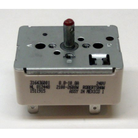 Range Burner Switch for Frigidaire 316436001 AP3885460 PS1145040
