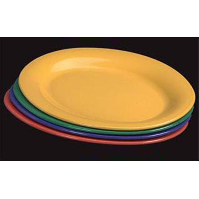 Gessner Products IW-0335-PINE Oval Platter, 9. 5 inch x 7. 25 inch- Case of 12