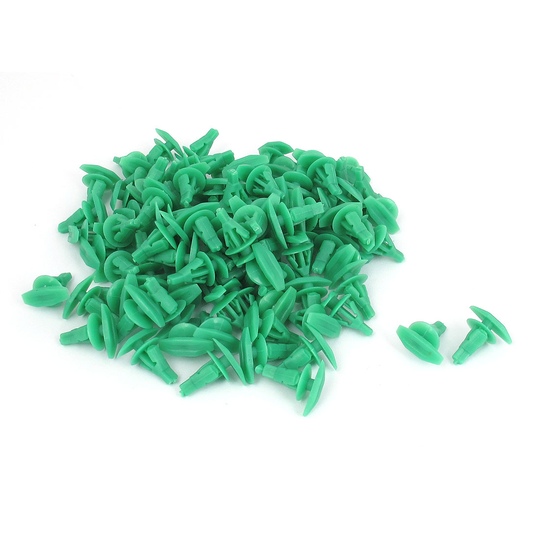 Car Door Trim Fender Bumper Plastic Rivets Fastener Retainer Clip Green 100 Pcs
