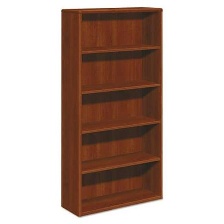 HON 10755CO 10700 Series Cognac Laminated Fixed Shelves Bookcase, Five Shelf