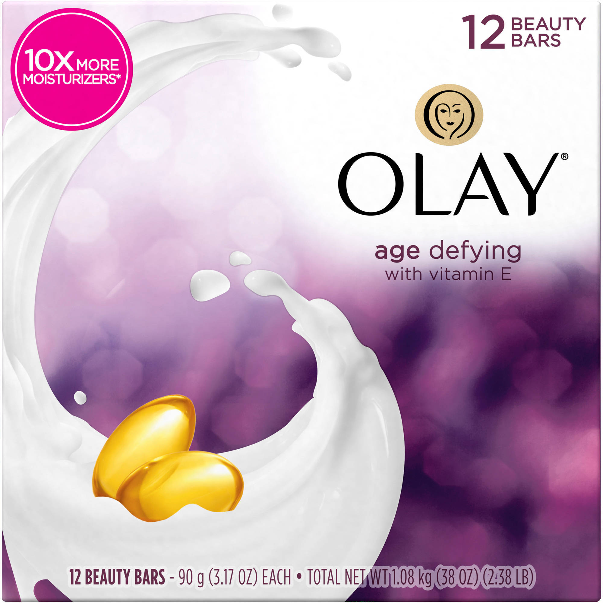 Olay Age Defying Beauty Bars, 3.17 oz, 6 count, (Pack of 2)