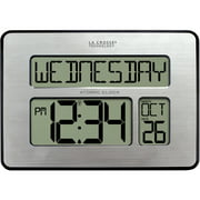 La Crosse Technology 513-1419-INT Atomic Full Calendar Clock with Extra Large Digits