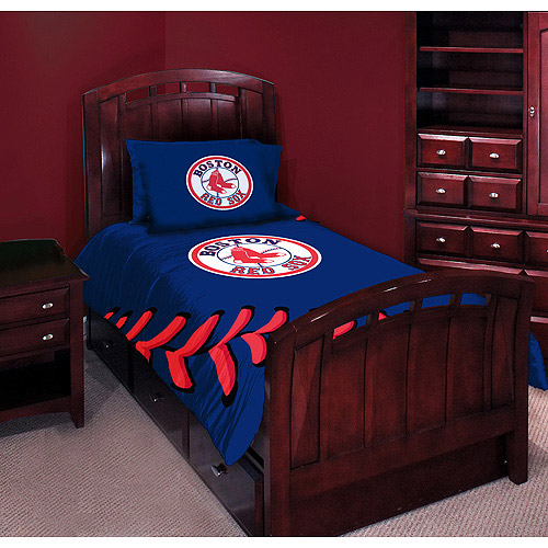 High Quality MLB Red Sox Twin Full Comforter Set