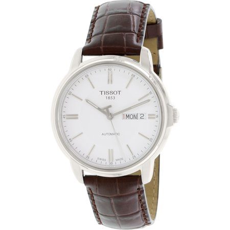 Men's Automatic lll T065.430.16.031.00 White Leather Swiss Automatic Watch