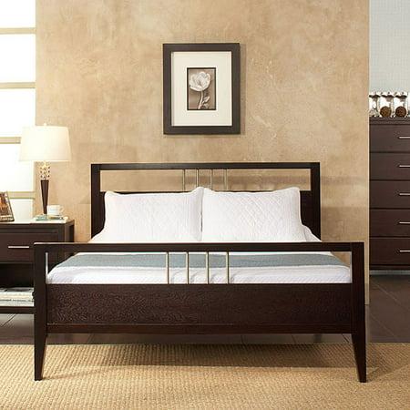 nevis california king platform bed with headboard and footboard espresso. Black Bedroom Furniture Sets. Home Design Ideas