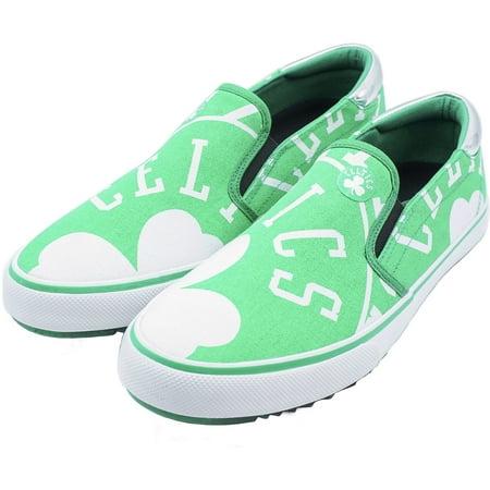 Boston Celtics Slip-On Canvas Shoes - Kelly Green Boston Celtics Classics Flat