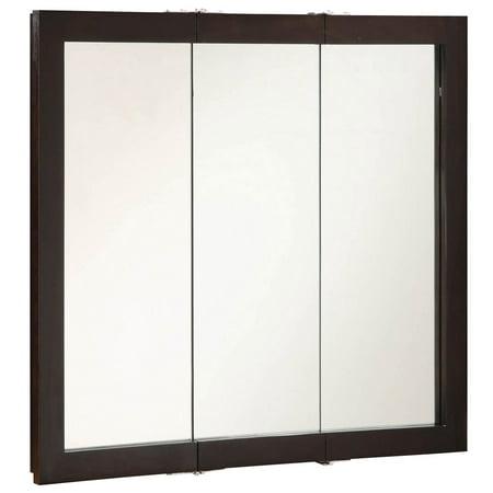 """Design House 541359 Ventura Tri-View Medicine Cabinet Mirror 36"""", Espresso"""