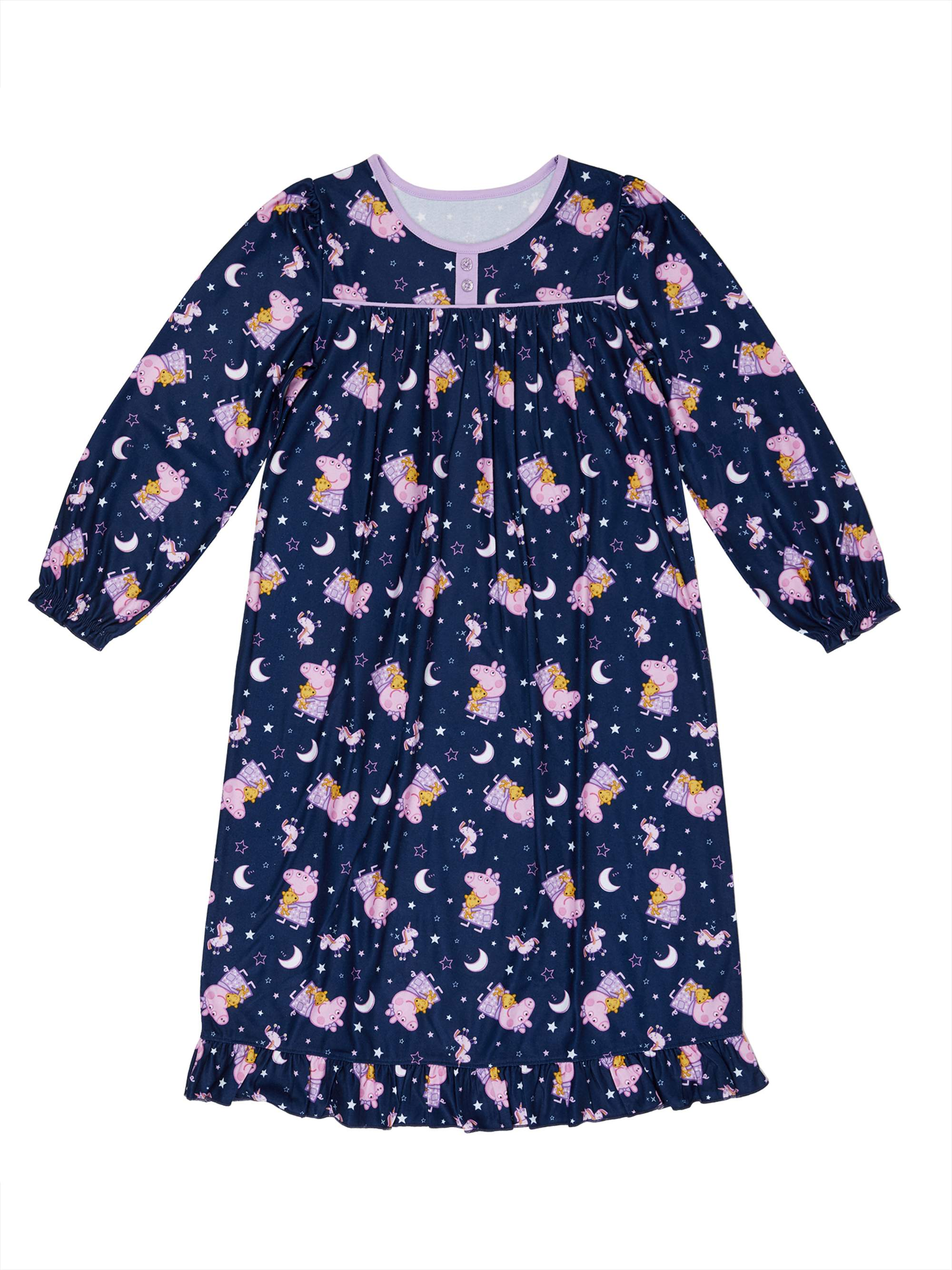Peppa Pig Toddler Girls Flannel Granny Gown Nightgown Pajamas K183772PP
