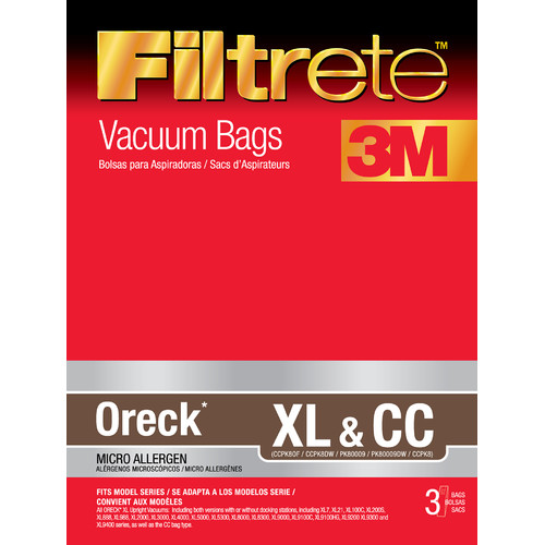 Eureka Oreck Filtrete XL and CC Vacuum Bag (Set of 3)