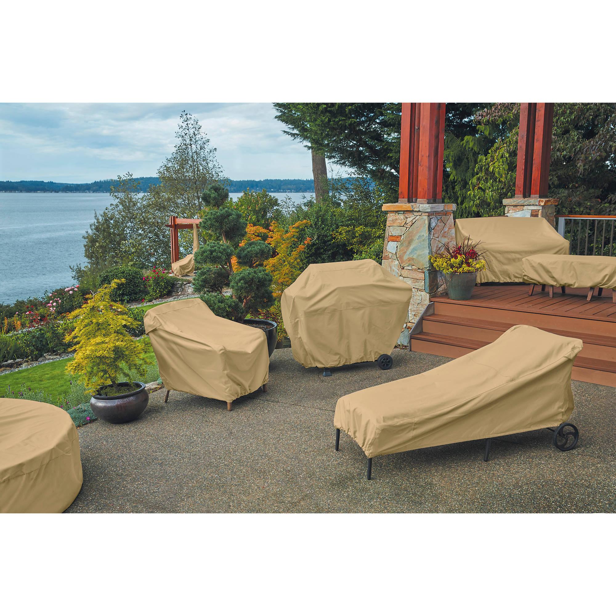 Classic Accessories Terrazzo Stackable Patio Chair Cover All