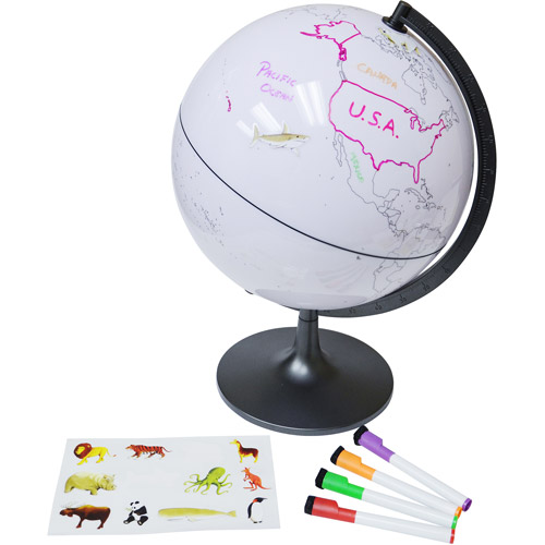 "Elenco 11"" Color My World Globe with Stickers"
