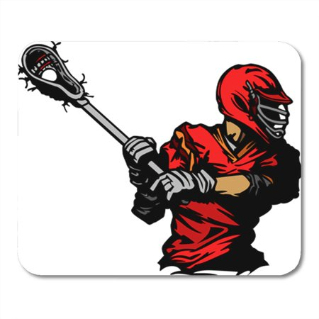 SIDONKU Stick Lacrosse Player Cradling Ball Clipart Torso Clip Lax Mousepad Mouse Pad Mouse Mat 9x10 - Office Clipart