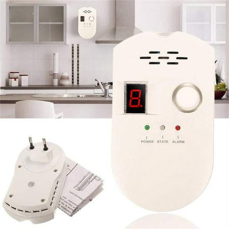 Knifun Plug-in Digital Gas Detector LCD LPG LNG Coal Natural Gas Leak Security Alarm Sensor Warning Detector