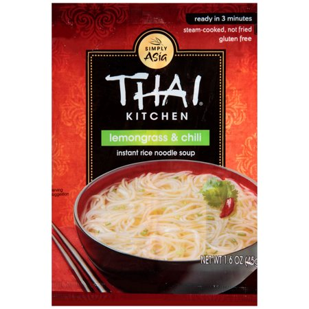 Rice Noodle Soup - Thai Kitchen Gluten Free Lemongrass & Chili Instant Rice Noodle Soup, 1.6 oz