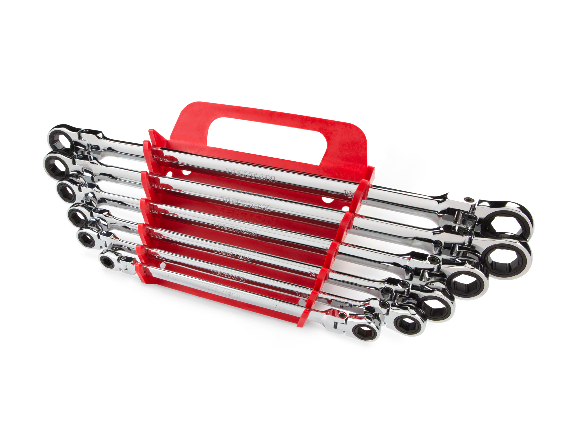 TEKTON Long Flex Ratcheting Box End Wrench Set, 6-Piece (8-19 mm) Keeper | WRN77164 by TEKTON