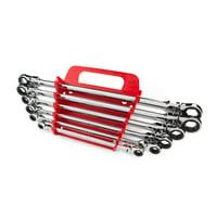 TEKTON Long Flex Ratcheting Box End Wrench Set, 6-Piece (8-19 mm) - Keeper | WRN77164