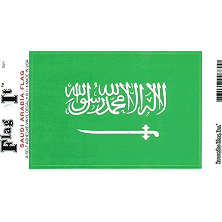 Saudi Arabia Flag Decal For Auto, Truck Or Boat - 3.25