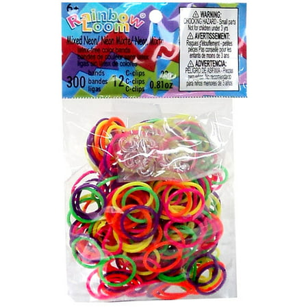 Rainbow Loom Mixed Neon Rubber Bands Refill Pack [300 ct]](Rubber Band Looms)