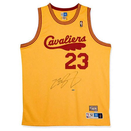 new concept 7548f 869f3 LeBron James Cleveland Cavaliers Autographed 1970-74 ...