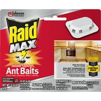 Raid Max Double Control Ant Baits, 0.14 oz, 4 ct