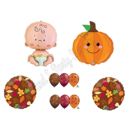 Cutest Lil Little Pumpkin in Patch Fall Baby Shower Party Balloons Decoration - Pumpkin Balloons