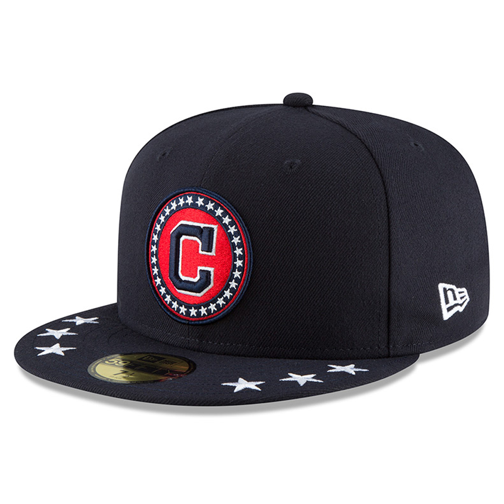 Cleveland Indians New Era 2018 MLB All-Star Workout On-Field Team Color 59FIFTY Fitted Hat - Navy